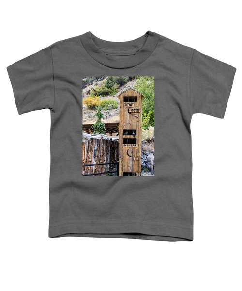 Two-story Outhouse Toddler T-Shirt