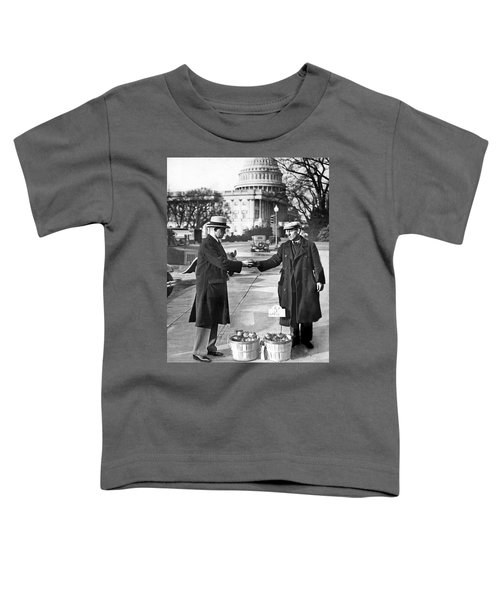 Unemployed Man Sells Apples Toddler T-Shirt by Underwood Archives
