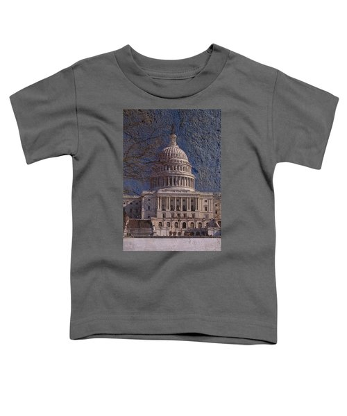 United States Capitol Toddler T-Shirt by Skip Willits