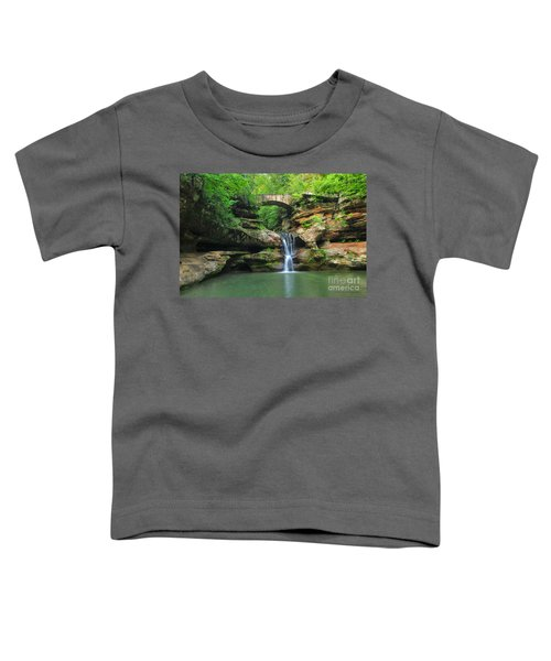 D10a-113 Upper Falls At Old Mans Cave Hocking Hills Photo Toddler T-Shirt