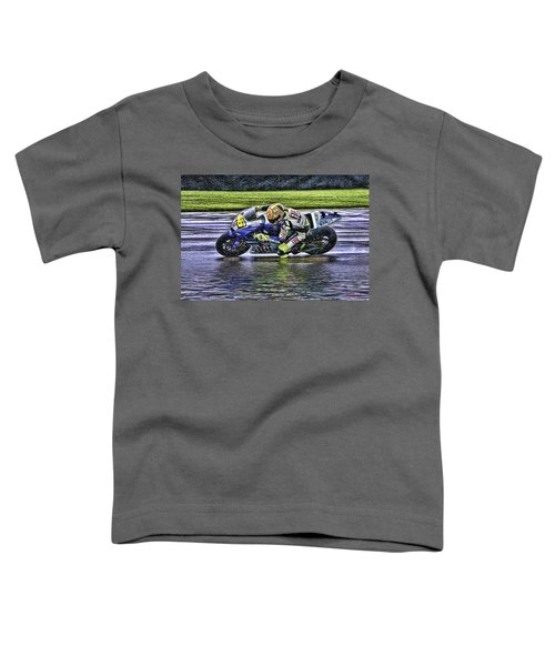 Valentino Rossi At Indy Toddler T-Shirt