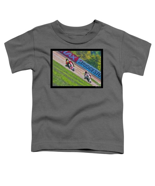 Valentino Rossi Leads Marco Simoncelli Toddler T-Shirt