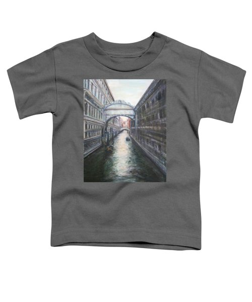 Venice Bridge Of Sighs - Original Oil Painting Toddler T-Shirt