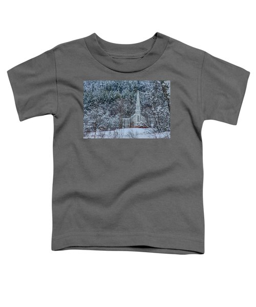 Vermont Church In Snow Toddler T-Shirt