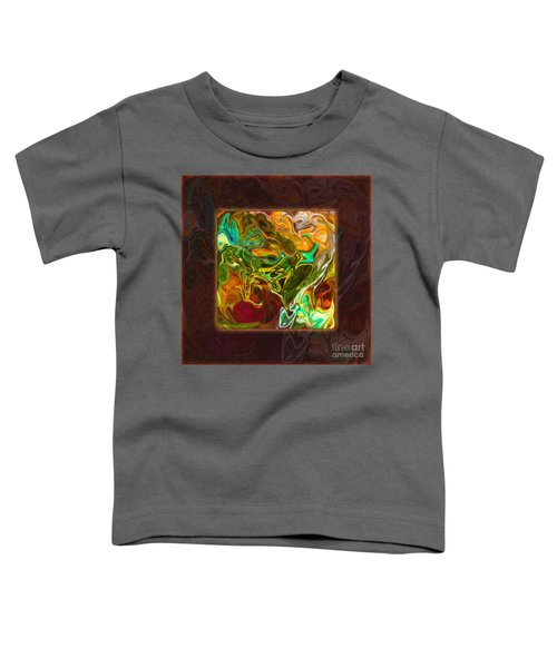 Vibrant Fall Colors An Abstract Painting Toddler T-Shirt