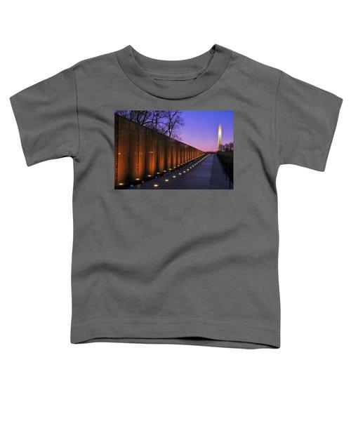 Vietnam Veterans Memorial At Sunset Toddler T-Shirt