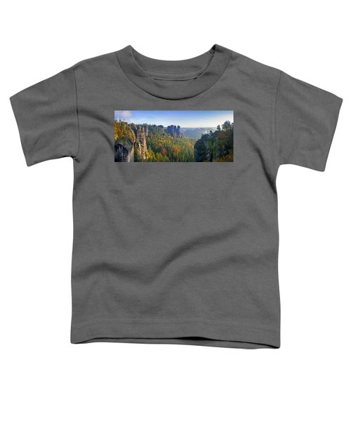 View From The Bastei Bridge In The Saxon Switzerland Toddler T-Shirt