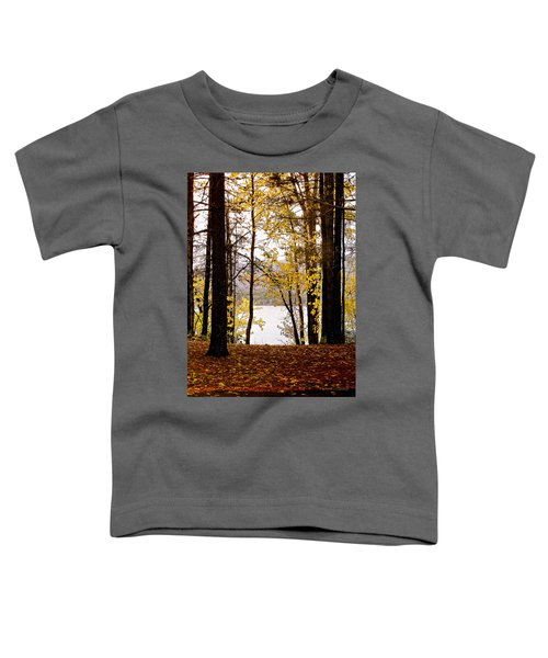 Toddler T-Shirt featuring the photograph View Of  Lake Mcdonald by Susan Kinney