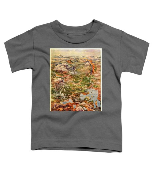 Vintage Map Of Yellowstone National Park Toddler T-Shirt