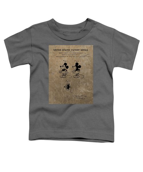 Vintage Mickey Mouse Patent Toddler T-Shirt