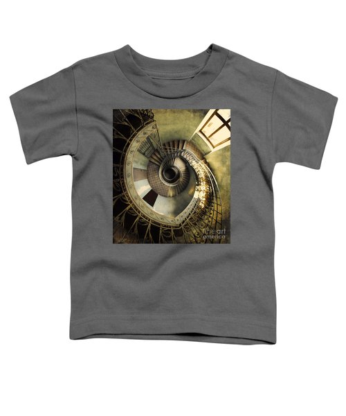 Toddler T-Shirt featuring the photograph Vintage Spiral Staircase by Jaroslaw Blaminsky