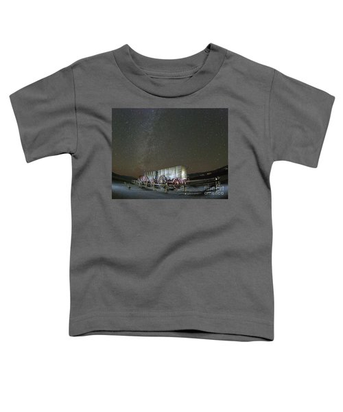 Wagon Train Under Night Sky Toddler T-Shirt by Juli Scalzi