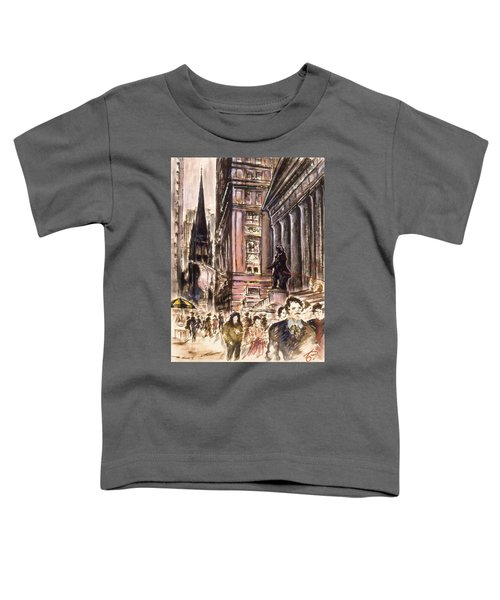 New York Wall Street - Fine Art Painting Toddler T-Shirt