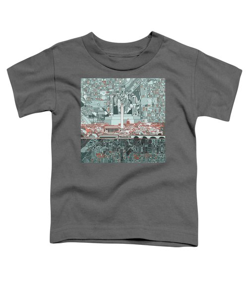 Washington Dc Skyline Abstract Toddler T-Shirt