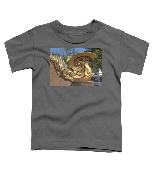 Wat Chedi Liem Phra Ubosot Makara And Stylized Naga Dthcm0838 Toddler T-Shirt