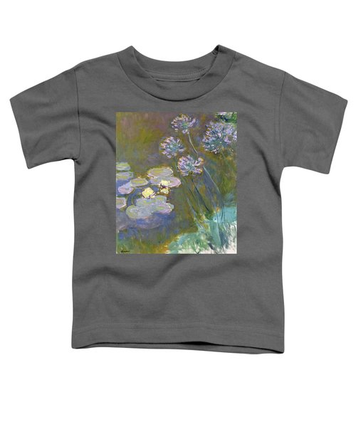 Waterlilies And Agapanthus Toddler T-Shirt