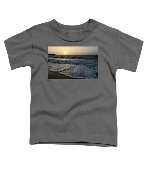 Waves On The Beach At Sunrise Toddler T-Shirt