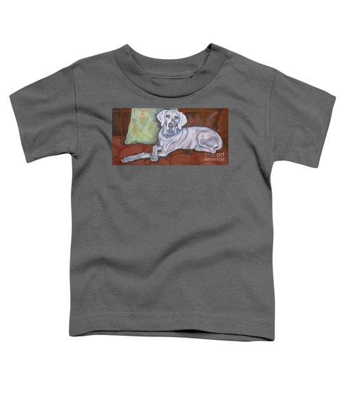 Weimaraner Reclining Toddler T-Shirt