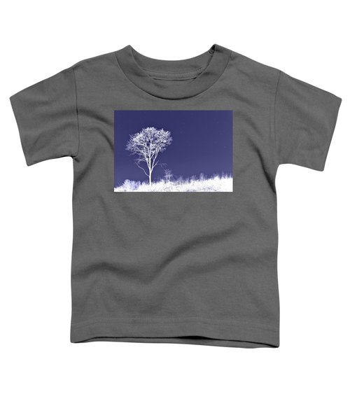 White Tree - Blue Sky - Silver Stars Toddler T-Shirt