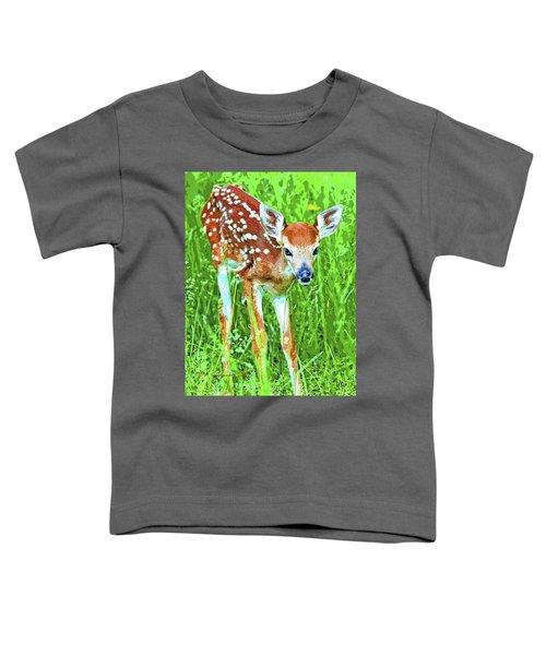 Whitetailed Deer Fawn Digital Image Toddler T-Shirt