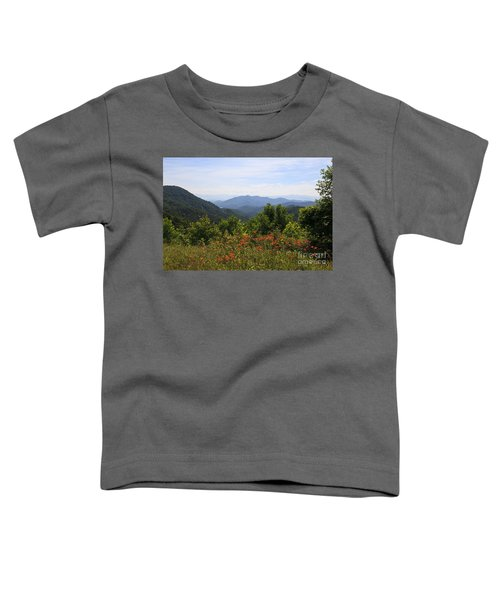 Wild Lilies With A Mountain View Toddler T-Shirt