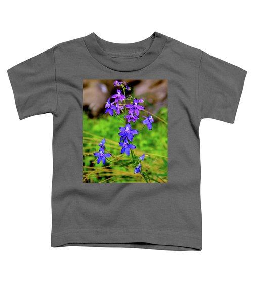 Wildflower Larkspur Toddler T-Shirt