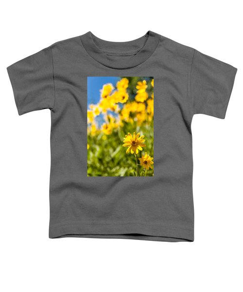 Wildflowers Standing Out Abstract Toddler T-Shirt