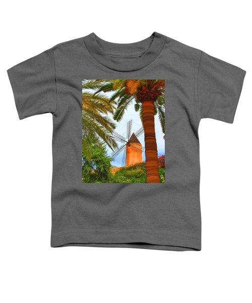Windmill In Palma De Mallorca Toddler T-Shirt