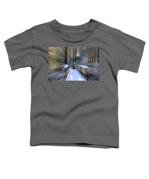 Winter Light On Bridge Toddler T-Shirt