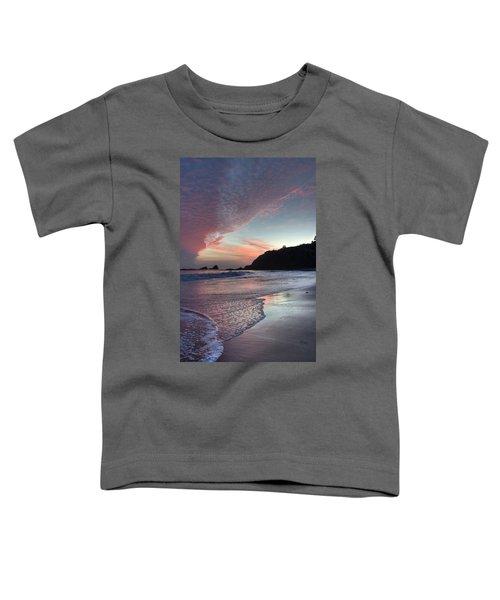 Winter Sunset Crescent Bay Toddler T-Shirt