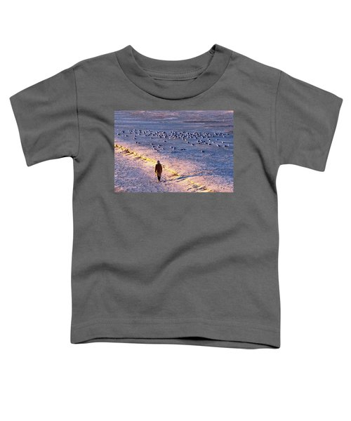 Winter Time At The Beach Toddler T-Shirt