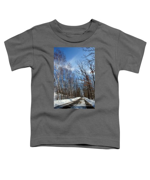 Wisconsin Winter Road Toddler T-Shirt