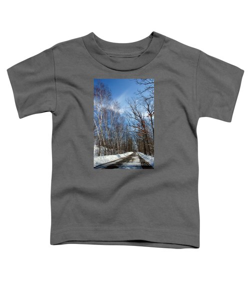 Wisconsin Winter Road Toddler T-Shirt