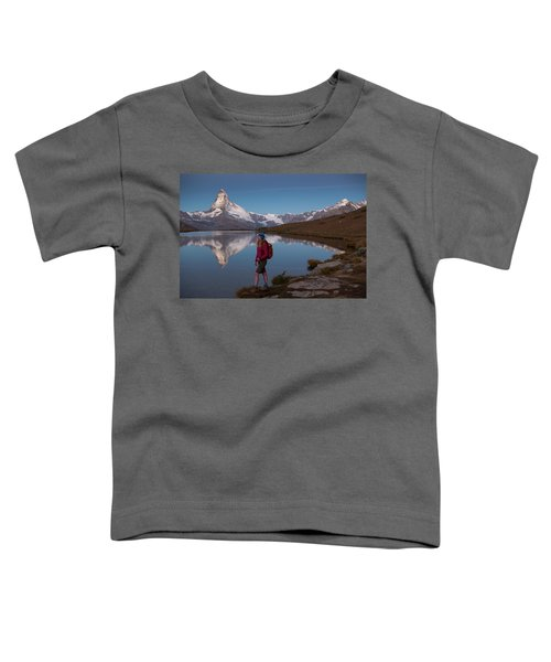 With The Matterhorn In The Background Toddler T-Shirt