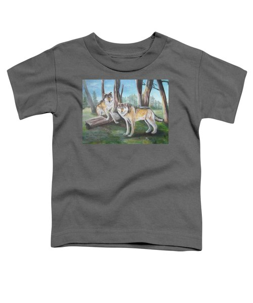 Wolves In The Forest Toddler T-Shirt