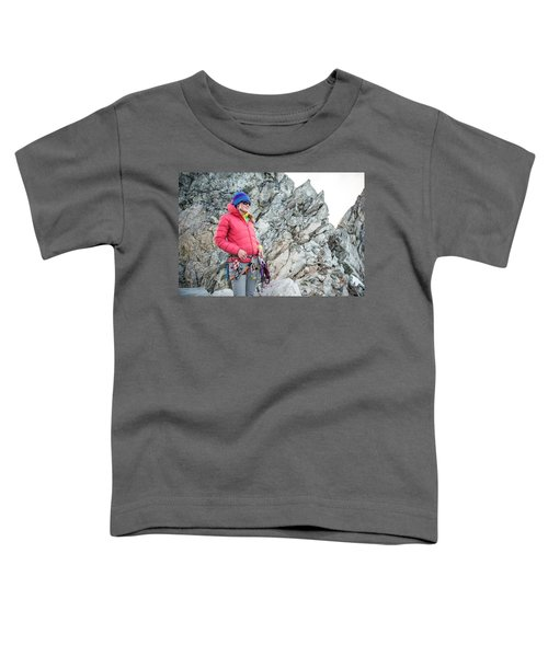 Woman On The North Ridge Of Forbidden Toddler T-Shirt