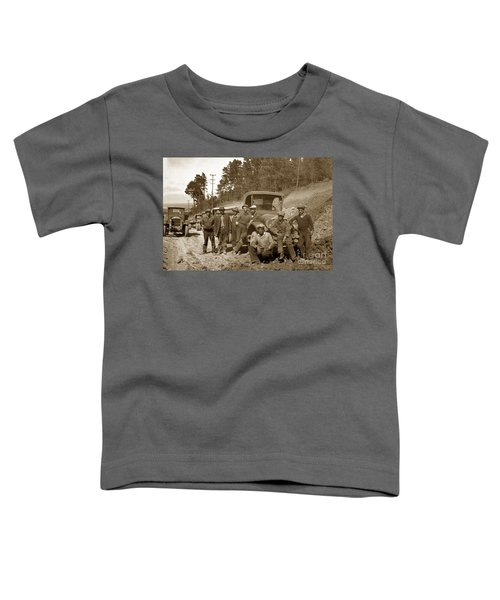 Workers On Highway One Monterey Carmel Hill California 1929 Toddler T-Shirt