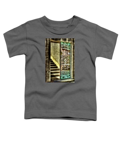 Wrigley's Tower Bronze Doors By Diana Sainz Toddler T-Shirt
