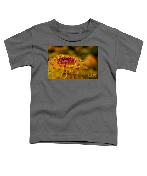 Yellow Dahlia Red Tips Toddler T-Shirt