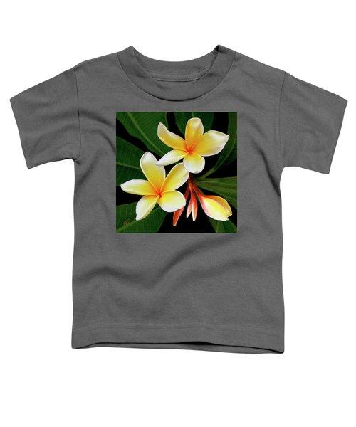 Yellow Plumeria Toddler T-Shirt