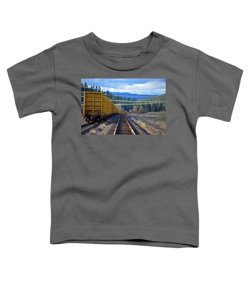 Yellow Train To The Mountains Toddler T-Shirt