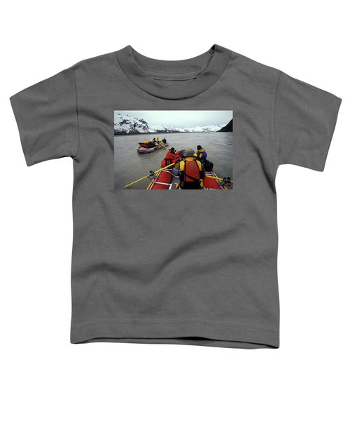 Young Adults Rafting On Alsek River Toddler T-Shirt