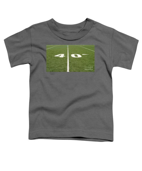 Football Field Forty Toddler T-Shirt