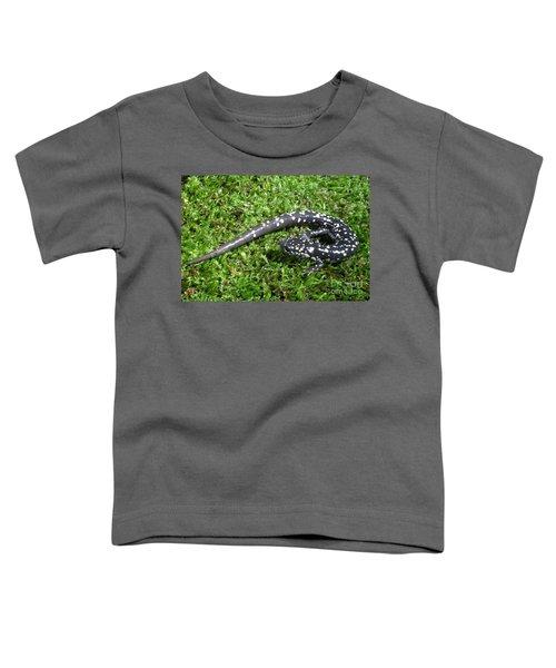 Slimy Salamander Toddler T-Shirt by Ted Kinsman