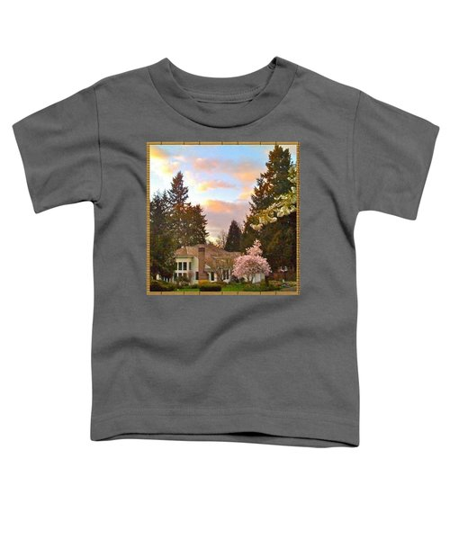 A Spring Evening - Lake Oswego Or Toddler T-Shirt