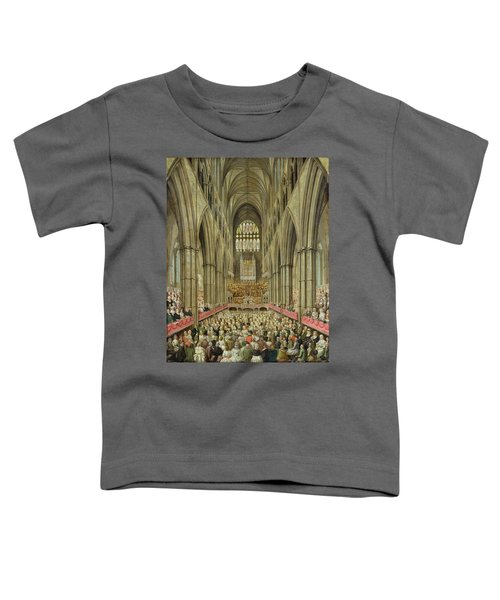 An Interior View Of Westminster Abbey On The Commemoration Of Handel's Centenary Toddler T-Shirt by Edward Edwards