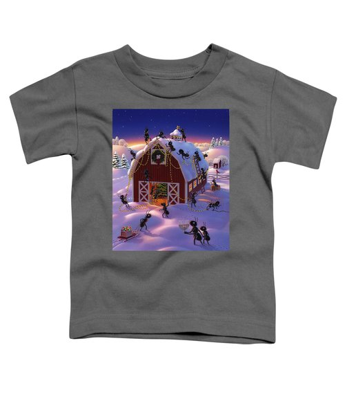 Christmas Decorator Ants Toddler T-Shirt