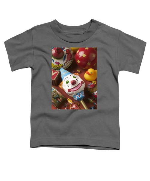 Clown Rattle And Old Toys Toddler T-Shirt