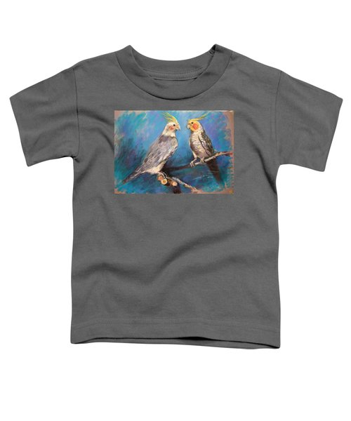 Coctaiel Parrots Toddler T-Shirt by Ylli Haruni