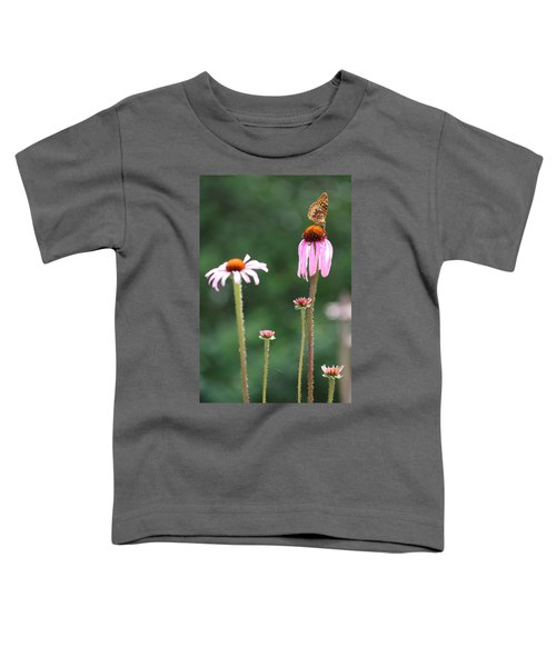Coneflowers And Butterfly Toddler T-Shirt